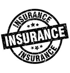 Insurance round grunge black stamp vector