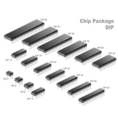 Chip Package vector image