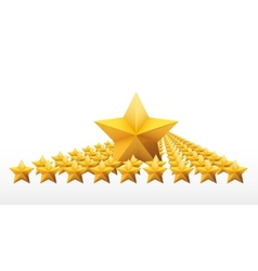 Gold five-pointed premium stars vector