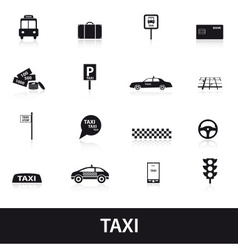 Taxi icons eps10 vector