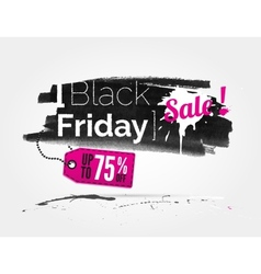 Black friday watercolor banner with splashes vector