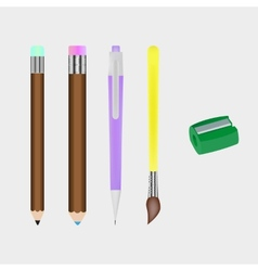 Set of stationery vector