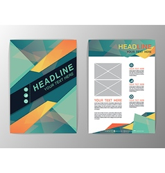 Abstract green and orange triangle design brochure vector