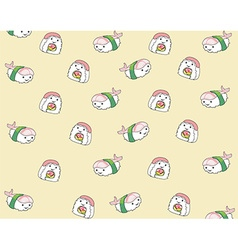 Japanese food cartoon pattern background vector