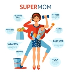 Super Mom Concept vector image