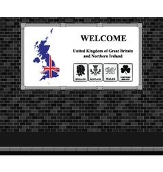 Welcome UK advertising board vector image