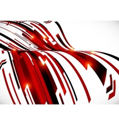 Abstract dark red curves background vector image