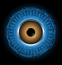 Abstract technology digital circle eye vector