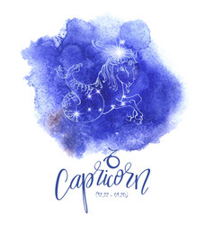 Astrology sign capricorn vector