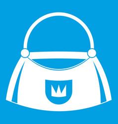bag icon white vector image