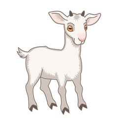 cartoon goat vector image vector image
