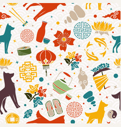 Chinese new year of the dog 2018 icon background vector