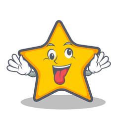 Crazy star character cartoon style vector