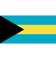Flag of Bahamas in correct proportions and colors vector image
