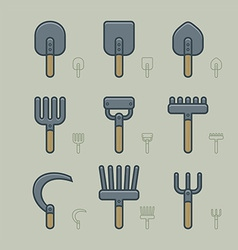 Gardening Tools Icons vector image vector image