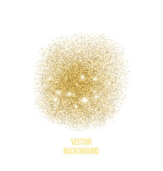 Gold texture amber particles color vector