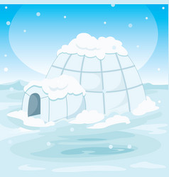 Igloo house vector