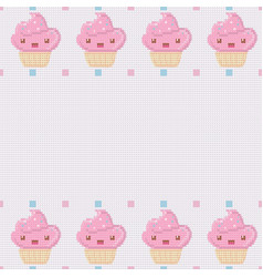 knitted white background for your text with pink vector image vector image