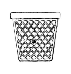 Monochrome blurred silhouette of office trash can vector