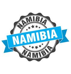 Namibia round ribbon seal vector