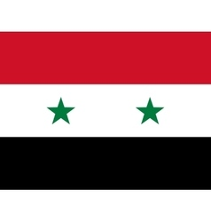 Official national flag of Syria vector image vector image