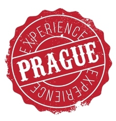 Prague stamp rubber grunge vector image