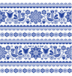 scandinavian seamless pattern with flowers vector image vector image