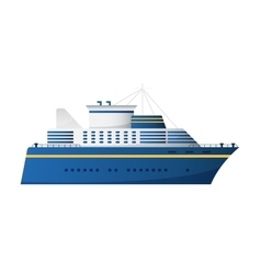 Seaway and ocean water transport passenger vector