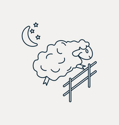 Sheep jumping over the fence vector