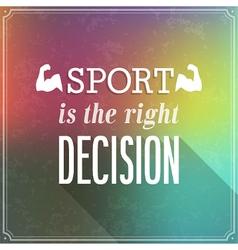 Sport typographic design vector