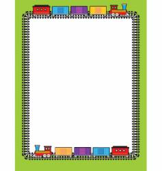 train border vector image vector image