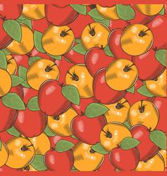 vintage apple seamless pattern vector image vector image