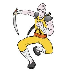 warrior attack vector image