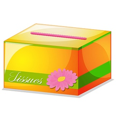 A colorful tissue box vector