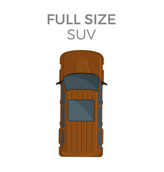 Full size suv means of transportation isolated vector