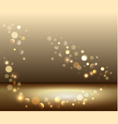 Gold shiny sparkles vector