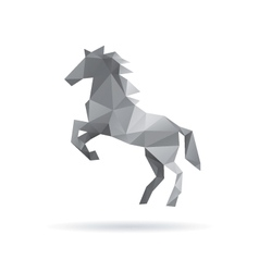 Horse abstract isolated on a white backgrounds vector
