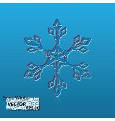 soon winter vector image