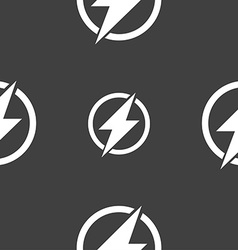 Photo flash sign icon lightning symbol seamless vector