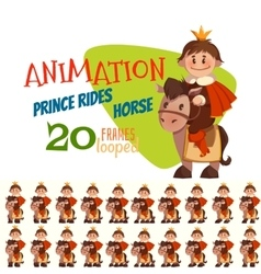 horse with prince in flat vector image