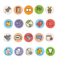 Basic colored icons 4 vector