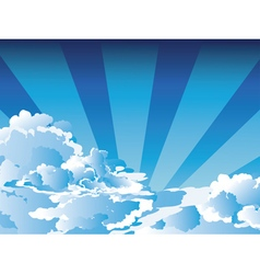 Blue sky with clouds6 vector