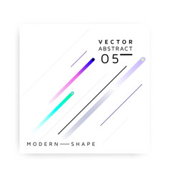 abstract modern colorful shape vector image
