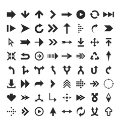 Arrow glyph icons vector image vector image