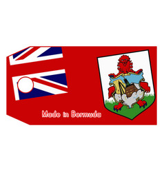 Bermuda flag on price tag vector