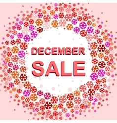 Big winter sale poster with december sale text vector