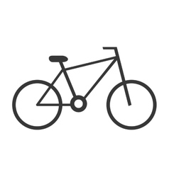 Black bike side view graphic vector