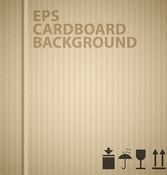 cardboard background texture vector image
