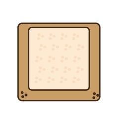 Cartoon halved bread breakfast design vector