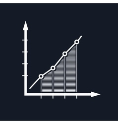 Chart isolated on black background vector
